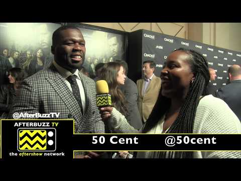Nakia Monet interviews 50 Cent at Crackle's The Oath premiere 2018