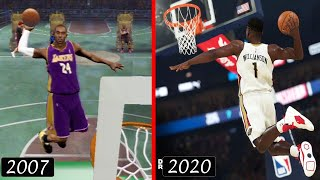 HISTORY OF NBA SLAM DUNK CONTEST in 2K GAMES (2K8 - 2K20)