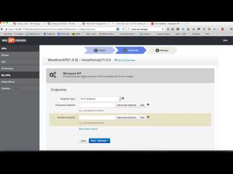 Create a simple API and publish to your webportal, WSO2 APIM Tutorial 01
