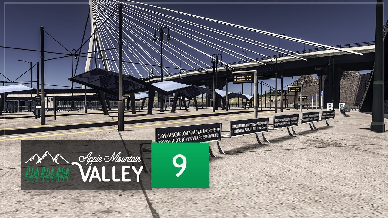 Download Cities Skylines Apple Mountain Valley - Part 9 - Downtown Infrastructure