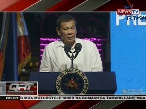 QRT: Talumpati ni Pang. Duterte sa pagbibigay-pugay sa mga sundalong lumaban sa Marawi