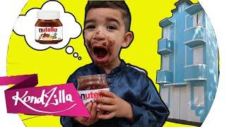 ♫ Lucas Comendo Nutella no prédio azul - Detetives do prédio azul - DPA  música JOHNY JOHNY YES PAPA