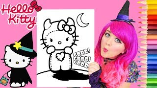 Coloring Hello Kitty Halloween Spooky Monster Coloring Page Prismacolor Pencils | KiMMi THE CLOWN