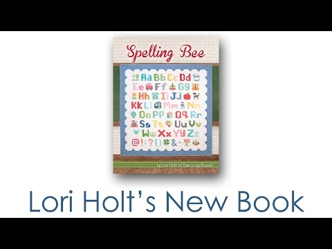 Lori Holt's New Book - Spelling Bee Featuring Letter, Number, Punctuation, and Picture Blocks