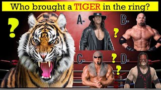 WWE QUIZ - Can You Remember All WWE Superstars Who Brought Animals To The Ring?