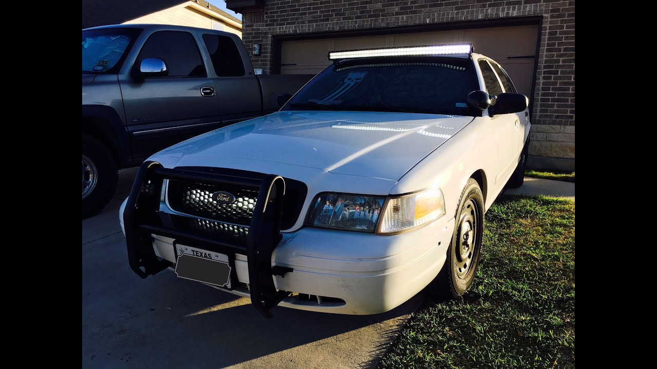 98-\'11 Crown Victoria Curved LED Light Bar Install ( zombie car ...