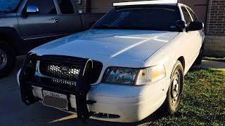 '98-'11 Crown Victoria Curved LED Light Bar Install ( zombie car )