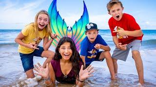 A Lost Mermaid! We Found A Magic Mermaid! Kids Fun TV