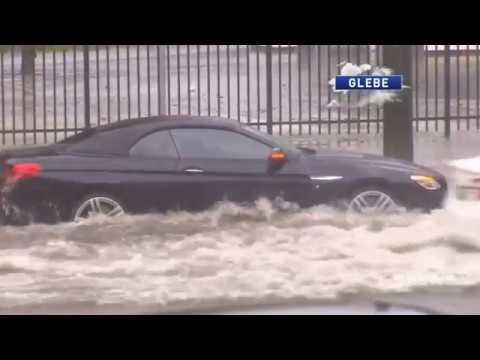 Extreme Flash Flooding Thunder Storms Sydney