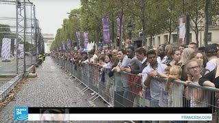 فيديو.. سباق استثنائي للطائرات بدون طيار بباريس