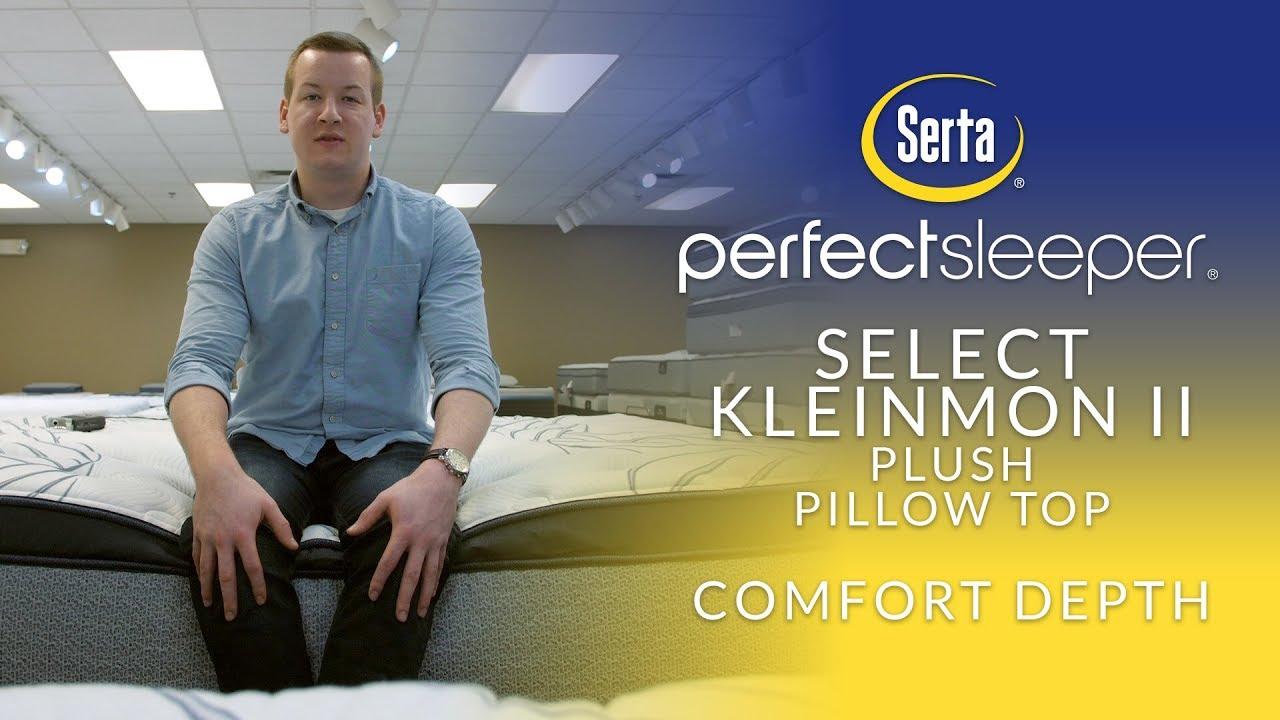 serta perfect sleeper select kleinmon ii plush pillow top mattress comfort depth 1