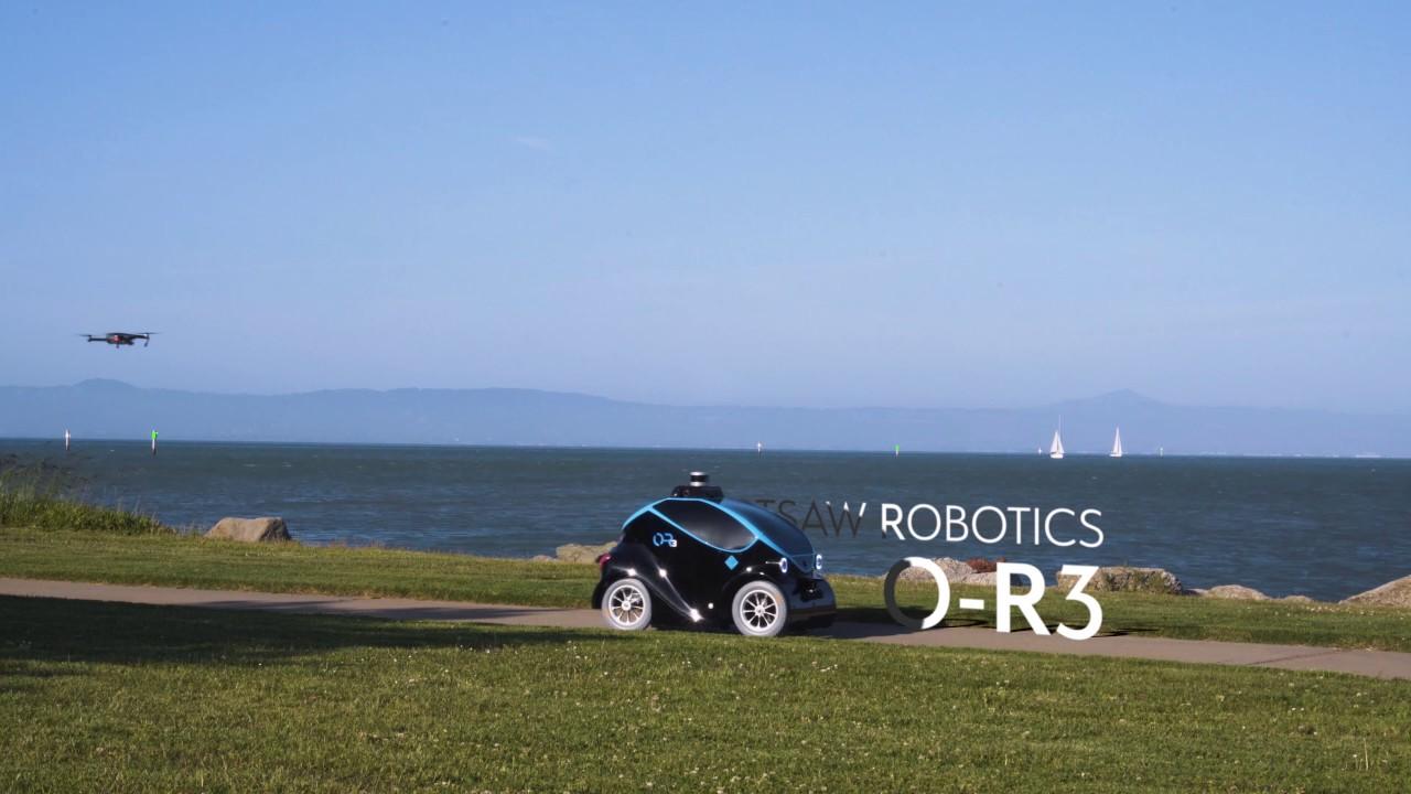 Este pequeño vehículo robótico autónomo cuenta con su propio drone
