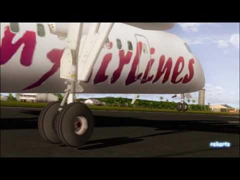 Caribbean Dash 8 Landing