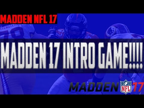 Madden NFL 17 Intro Game- Washington Redskins vs Los Angeles Rams