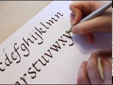 How to write calligraphy youtube Calligraphy youtube