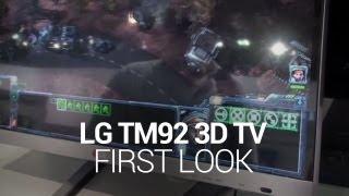 LG TM92 3D HDTV - First Look