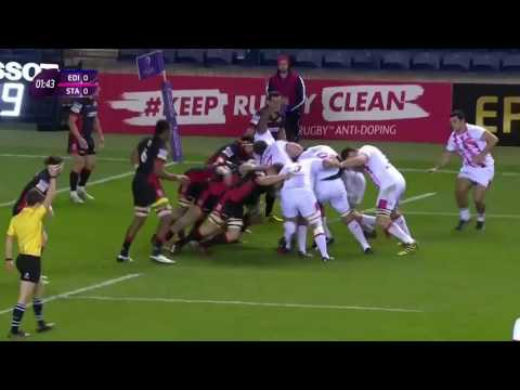 Edinburgh vs Stade Francais European rugby challenge cup 2016