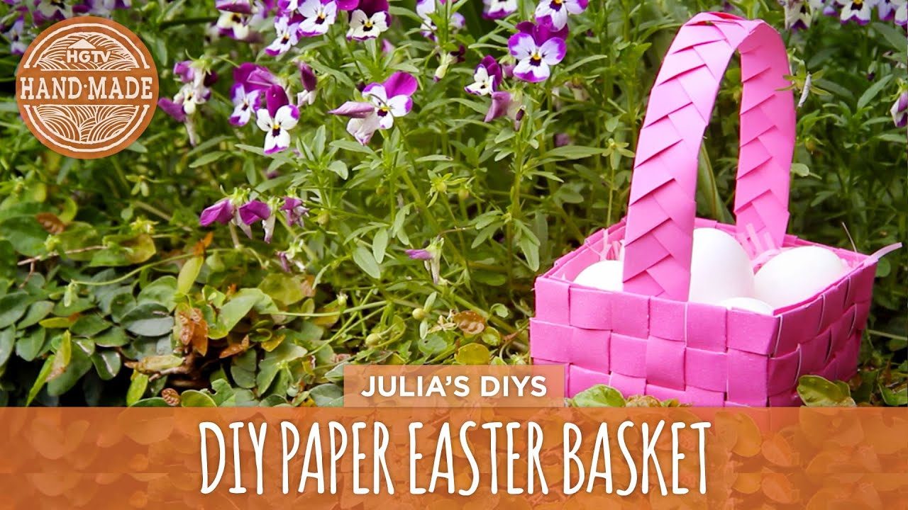 Last minute woven paper easter basket hgtv handmade youtube negle Images