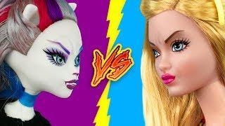 Барби против Монстер Хай! 16 лайфхаков для кукол