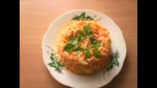 Холодные закуски мясные:Салат обжорка