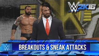 WWE 2K16 Batista Bomb Breakouts & Sneak Attacks!