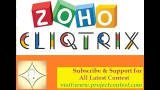 zoho cliqtrix (2019) I Coding contest I Job Alert