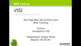 VISI - Webinar ''Installation Einzelplatz''