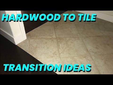 Tile to Hardwood Floor Transition Ideas (Skill level = 6 beers)