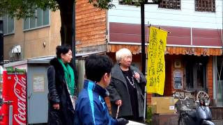 戦争やだね長野大集会(1)ー山田火砂子さん(映画「望郷の鐘」監督)、磯村みどりさん(女優)のお話