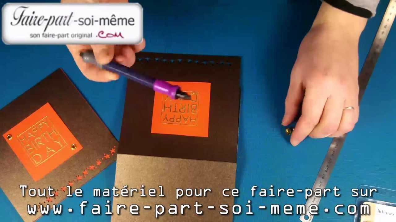Carte D Anniversaire Happy Birthday Chocolat Irisé Youtube