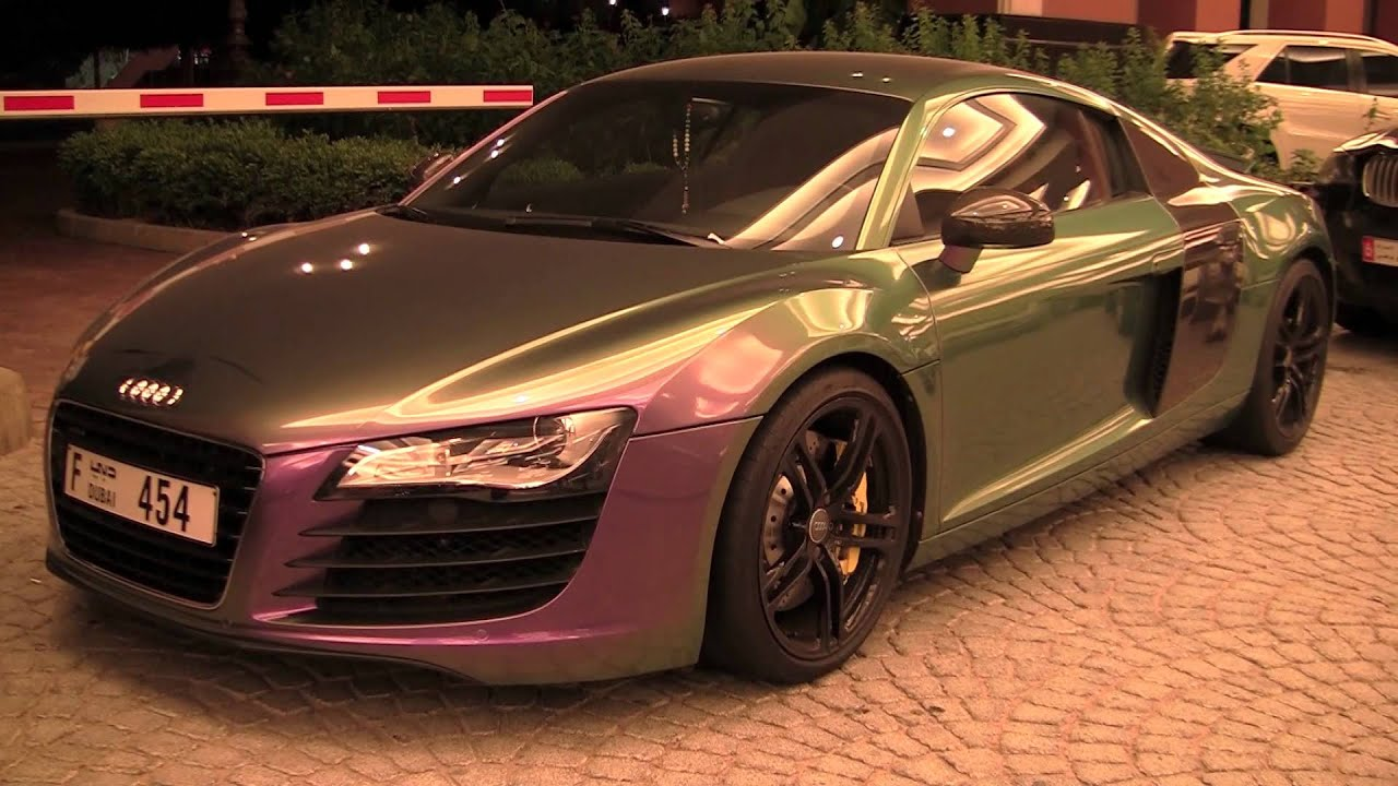 06df59f26983fc Flip Flop colored Audi R8 in Dubai - YouTube