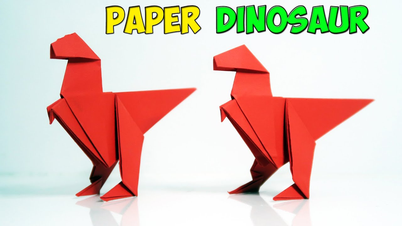 Easy Origami for kids - How to make Origami Dinosaur - YouTube | 720x1280