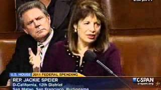 Rep. Jackie Speier (D-CA) In Opposition to the Pence Amendment