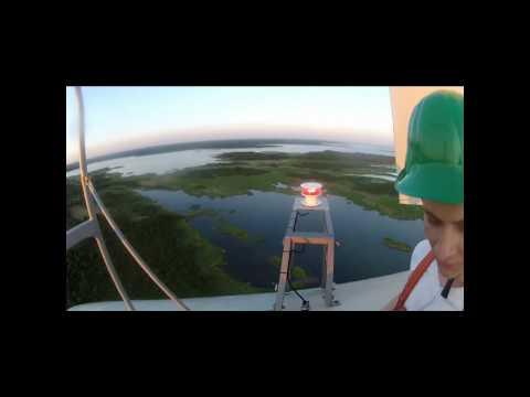 Climbing to 85m Wind Generator Tower
