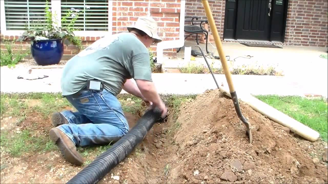 How To Install Underground Downspouts With Pop Up Drains