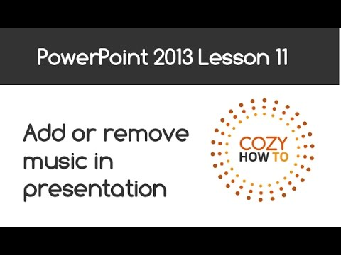 PowerPoint 2013 Tutorial How To Add Music To PowerPoint