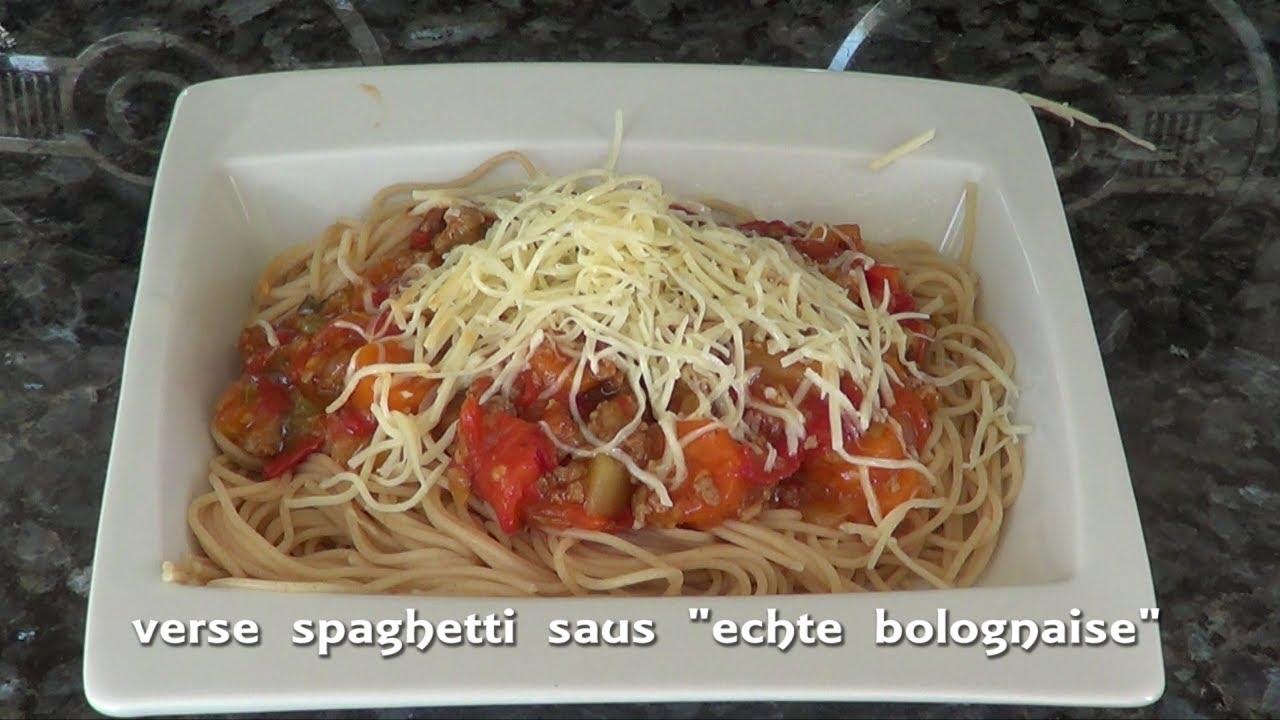 eenvoudige spaghettisaus maken