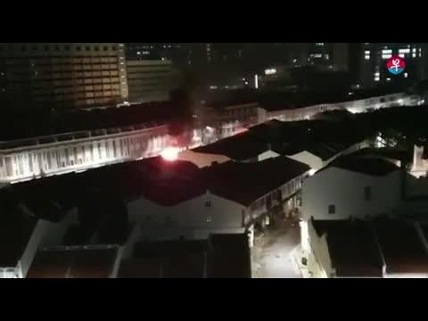 宝马撞店屋起火 酿5死1伤 5 Killed In Tanjong Pagar Car Crash