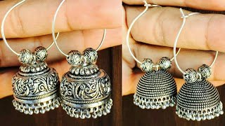 STYLISH SILVER HOOP JHUMKA EARRINGS COLLECTION  ||2019 LATEST DESIGNS||