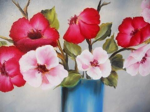 Como pintar flores en leo pinceladas silvia mongelos youtube - Como pintar cuadros faciles ...