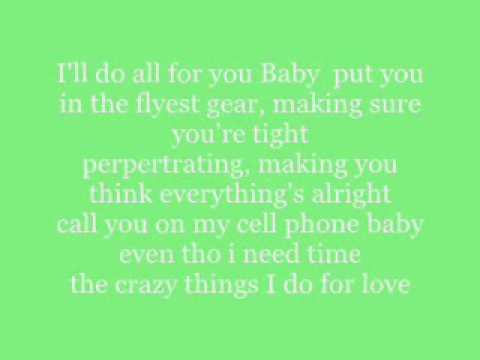 crazy things i do for love by sammie lyrics