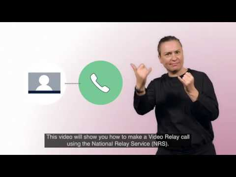 Making A Video Relay Call Through The National Relay Service