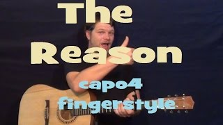 The Reason (Hoobastank) Fingerstyle Guitar Lesson Licks TAB - Easy How to Play Tutorial