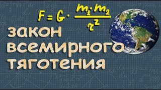 ЗАКОН ВСЕМИРНОГО ТЯГОТЕНИЯ физика 9 класс Романов