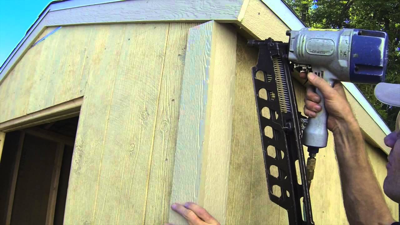 How To Build A Shed - Part 8 - Exterior Trim Install - YouTube