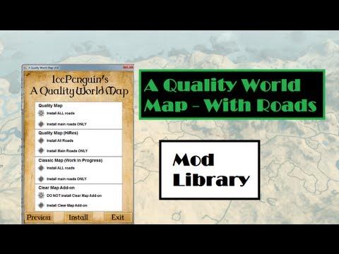 Quality World Map - Skyrim Mod Library - YouTube