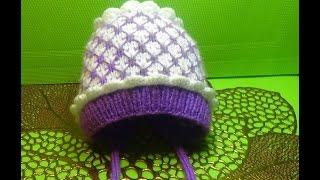 Вязание спицами шапочка на выписку #150