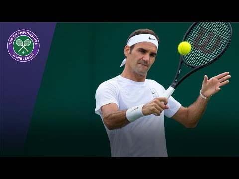 Roger Federer Wimbledon 2017 live training session - replay