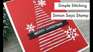 Stitching Tree Christmas Card | Fun & Festive | Simon Says Stamp