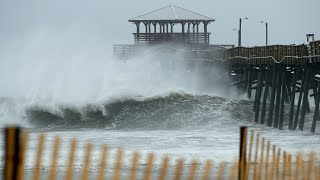 Slik ser den enorme orkanen «Florence» ut nå
